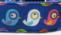 Big Birds - Vogel - Hundehalsband - blau